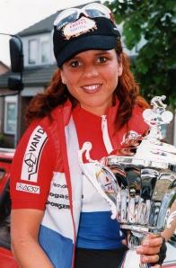 142-1999 Veldhoven. Omloop der Kempen winnares Leontien van Moorsel (TVS)