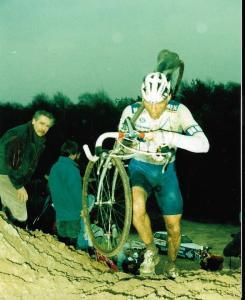 1993 Hilvarenbeek Beekse Bergen Henk Baars op weg naar de nationale titel veldrijden