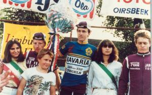 2016-04-25 Bergeijk 1981 Jan Peels winnaar Omloop van de Mijnstreek (TVS)