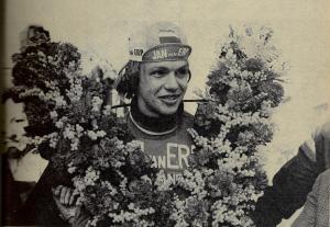 1974 Eindhoven Hans Koot winnaar amateur Omloop van Het Volk (foto in Wielersport van Bob Friedländer)