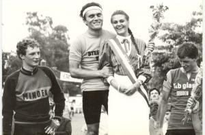 1984 Steensel. Winnaar Matthieu Dohmen uit Born (foto (HvD)