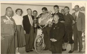 2014-09-30 Biezelinge-Veldhoven-Bladel Jo de Roo 1954-2014 Omloop der Kempen 1957 huldiging winnaar Jo de Roo Schore